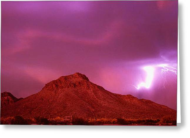 Tucson Az Usa Greeting Card by Panoramic Images