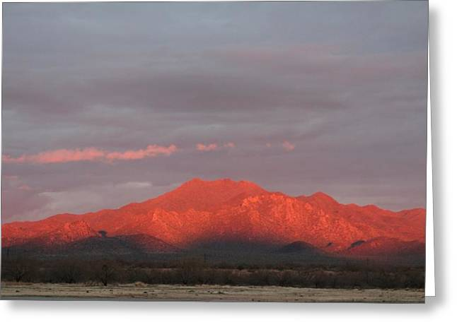 Greeting Card featuring the photograph Tucson Mountains by David S Reynolds