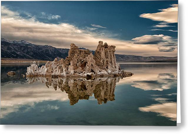 Tufa Reflections Greeting Card by Cat Connor