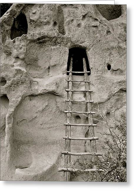 Tuff Cave Greeting Card by Kim Pippinger