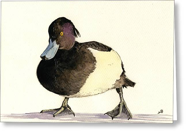 Tufted Duck Greeting Card by Juan  Bosco
