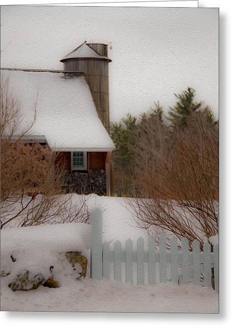 Tuftonboro Barn In Winter Greeting Card