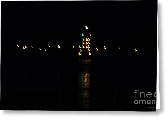 Greeting Card featuring the photograph Tug Boat Light Painting by Megan Dirsa-DuBois