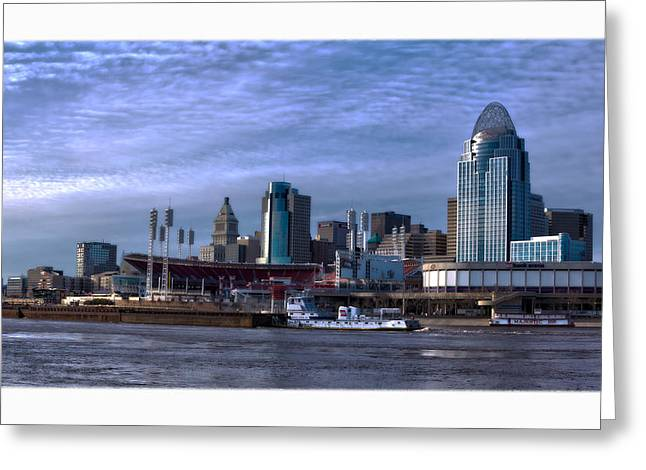Tug Boat Passing Great American Greeting Card by Tom Climes