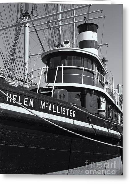 Tugboat Helen Mcallister II Greeting Card by Clarence Holmes