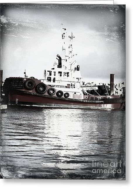 Tugboat Paint Greeting Card by Alanna DPhoto