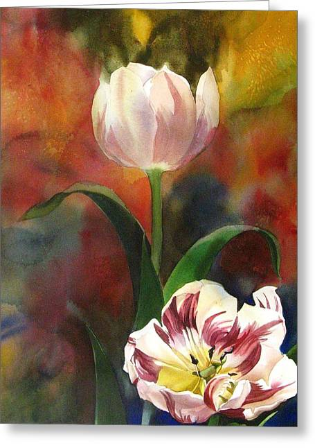 Tulip Abstraction Greeting Card by Alfred Ng