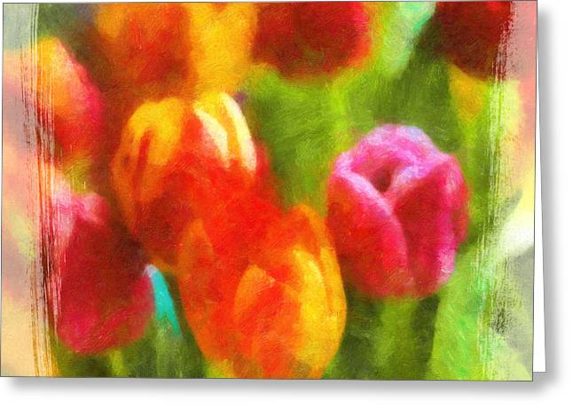 Tulip Art Greeting Card by Lutz Baar