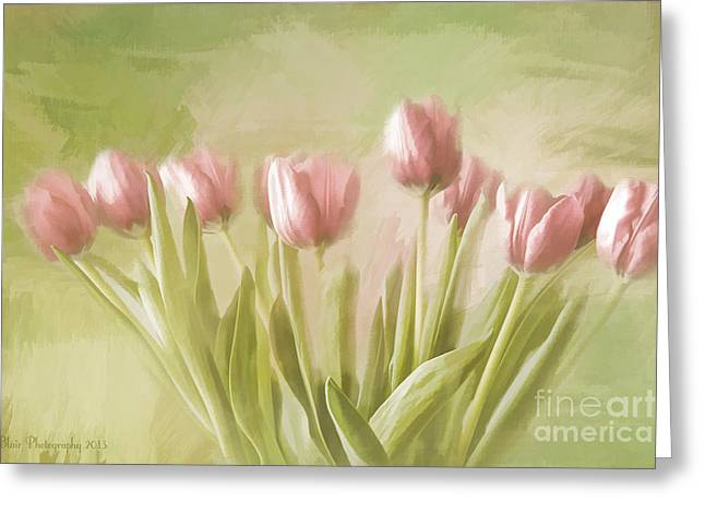 Tulip Bouquet Greeting Card by Linda Blair