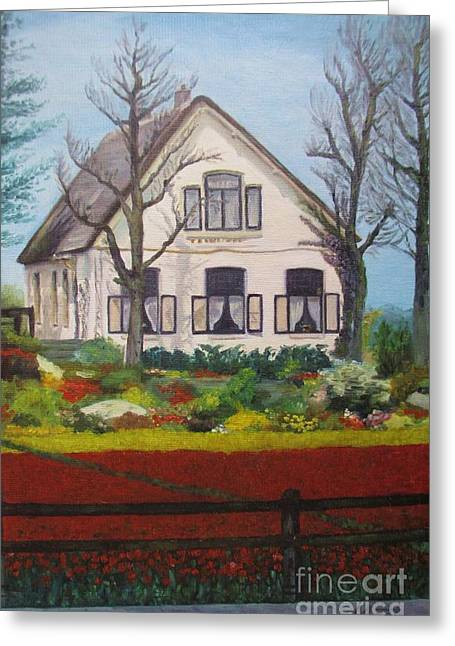 Tulip Cottage Greeting Card