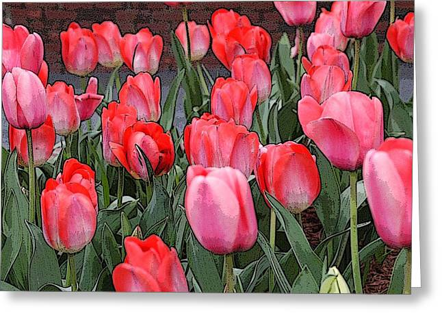 Tulip Flower Art05 Greeting Card