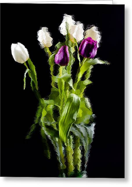 Greeting Card featuring the photograph Tulip Impressions II by Penny Lisowski
