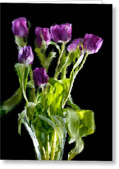 Greeting Card featuring the photograph Tulip Impressions Vi by Penny Lisowski
