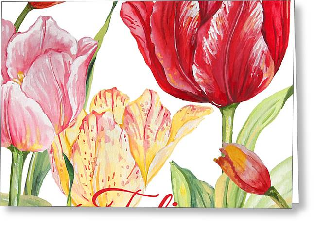 Tulip-jp2584 Greeting Card by Jean Plout