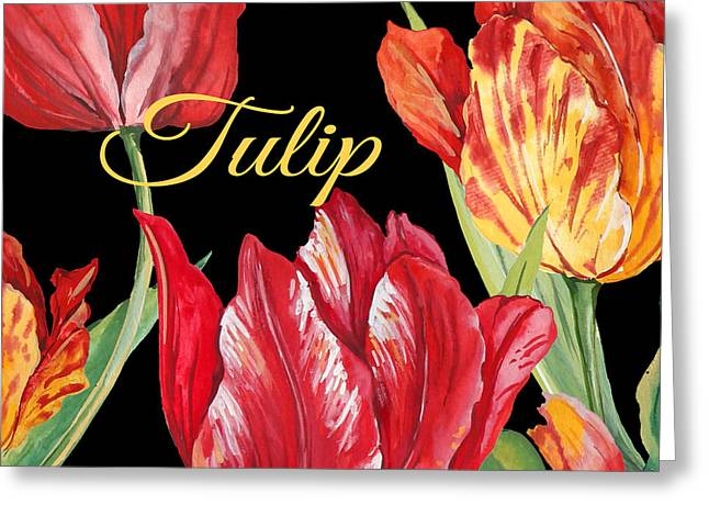 Tulip-jp2602 Greeting Card by Jean Plout
