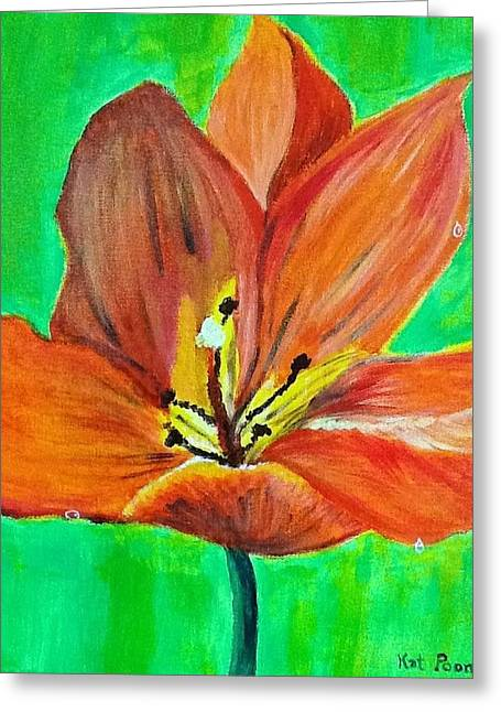 Tulip Greeting Card by Kat Poon