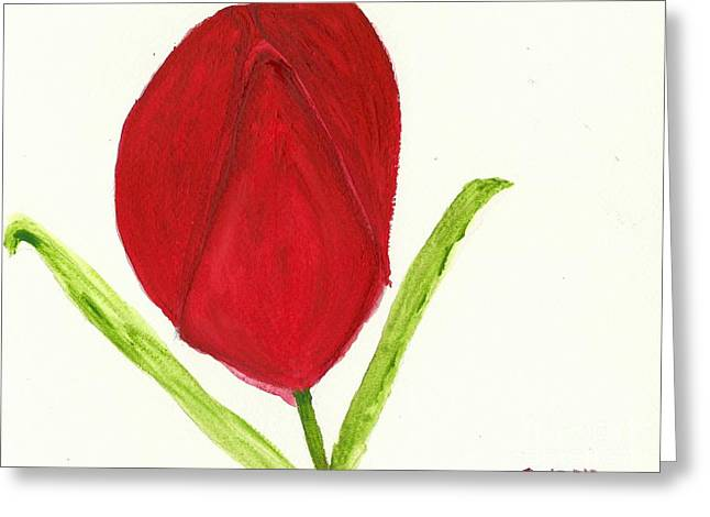 Tulip Of The Heart Greeting Card