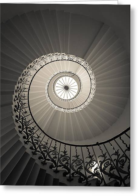 Tulip Stairs From Below Greeting Card