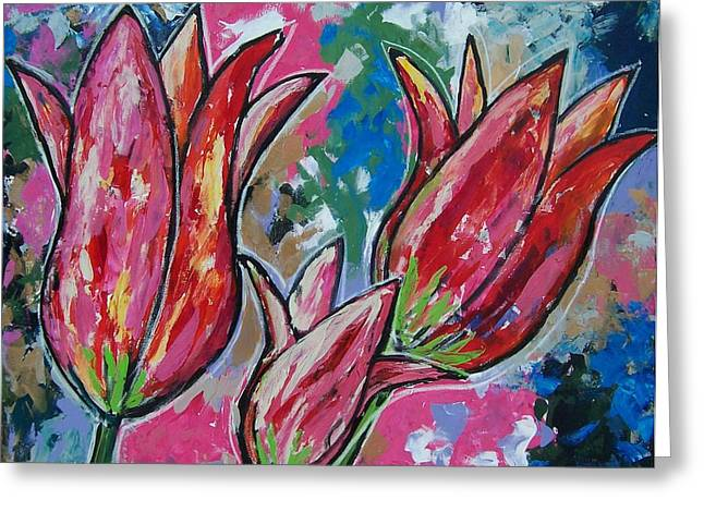 Tulip Trio Greeting Card