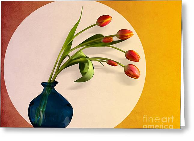 Tulips 3 Greeting Card by Mark Ashkenazi