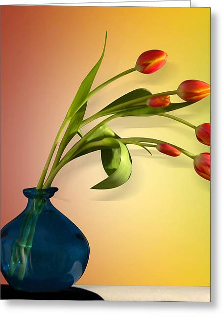 Tulips 5 Greeting Card by Mark Ashkenazi
