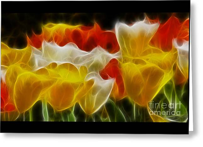 Tulips-6714-fractal Greeting Card by Gary Gingrich Galleries