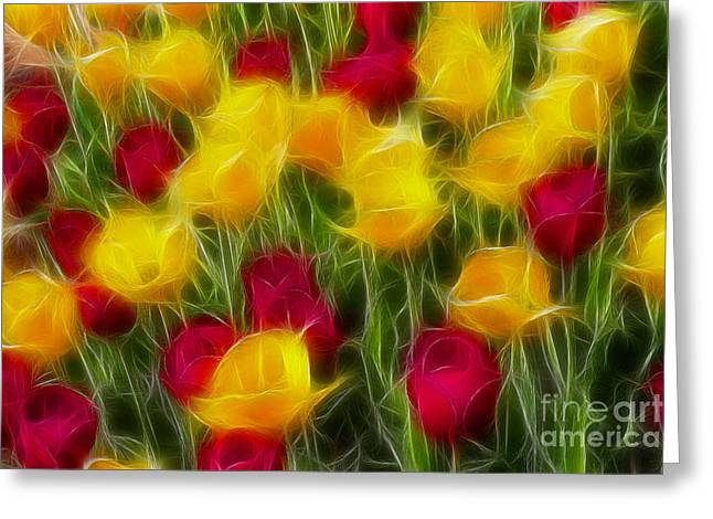 Tulips-7106-fractal Greeting Card by Gary Gingrich Galleries