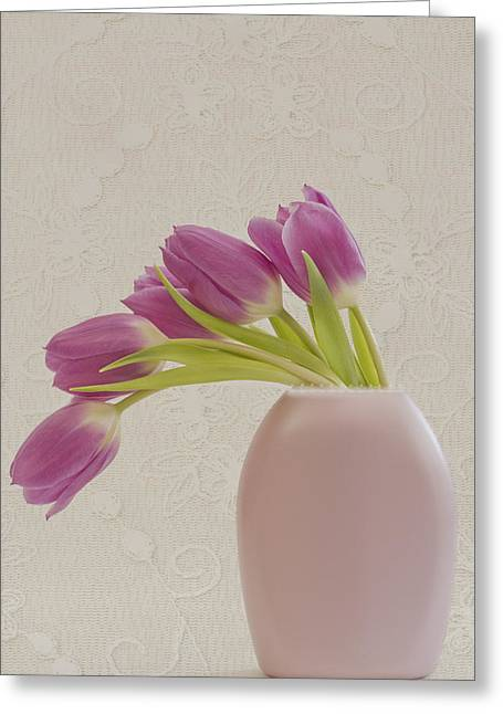 Tulips And Lace Greeting Card