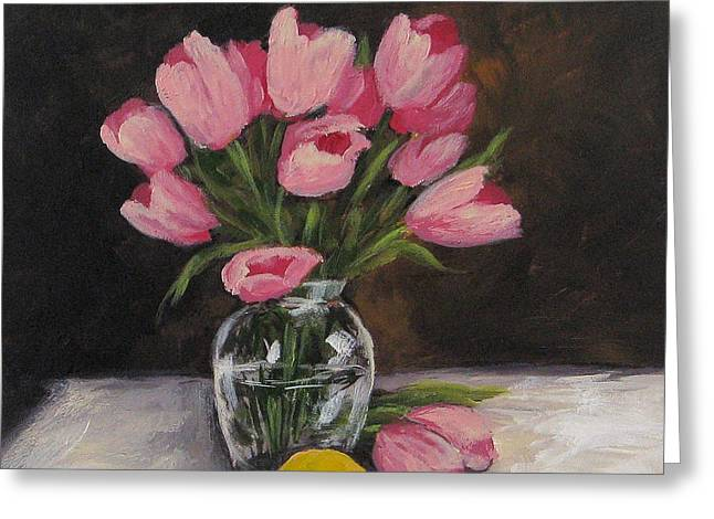 Tulips And Lemon Greeting Card by Torrie Smiley