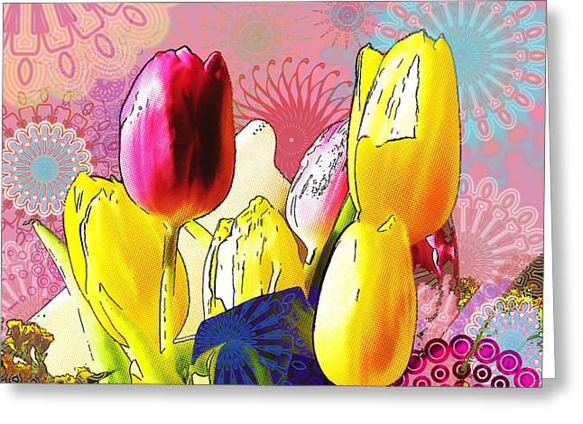Tulips Greeting Card by Christo Christov