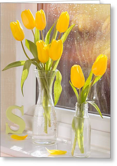Tulips Greeting Card by Amanda Elwell