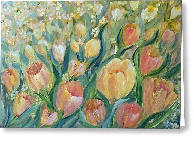 Tulips II Greeting Card by Joanne Smoley