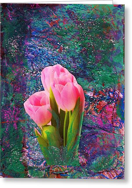 Tulips In Fantasyland Greeting Card