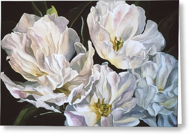Tulips In Spring Greeting Card by Alfred Ng