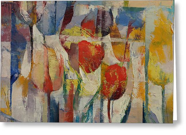 Tulips Greeting Card by Michael Creese