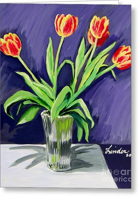 Tulips On The Table Greeting Card