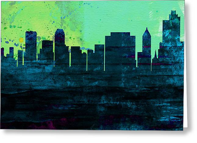 Tulsa City Skyline Greeting Card
