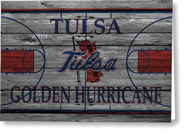 Tulsa Golden Hurricane Greeting Card by Joe Hamilton