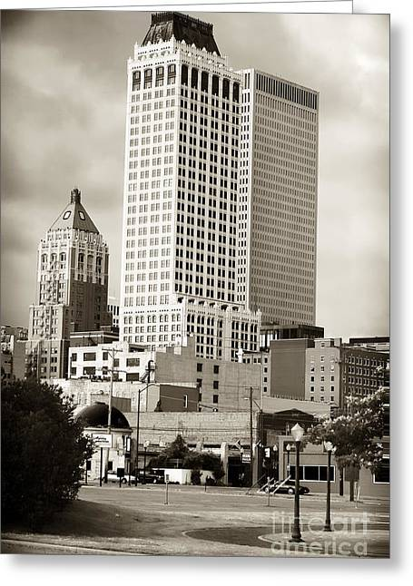 Tulsa Greeting Card by John Rizzuto
