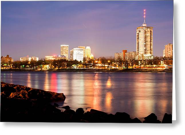Tulsa Oklahoma From The Shoreline Greeting Card by Gregory Ballos