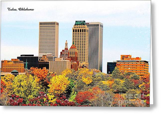 Tulsa Oklahoma In Autumn Greeting Card