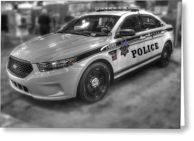 Tulsa Police At State Fair P1 Greeting Card by John Straton