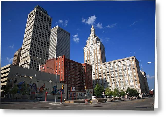 Tulsa Skyline Greeting Card by Frank Romeo