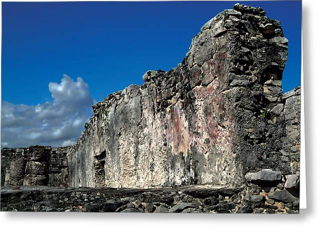 Tulum Greeting Card by Mike Feraco
