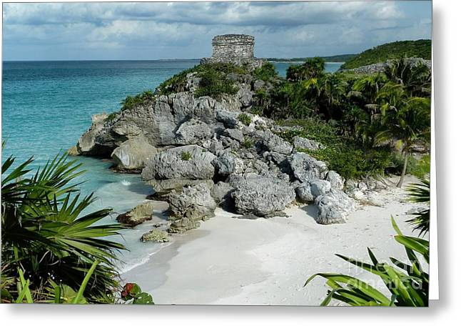 Tulum Ruins In Mexico Greeting Card