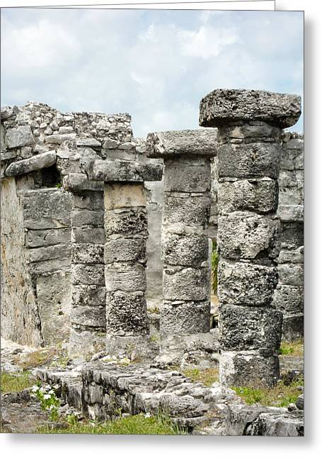 Greeting Card featuring the photograph Tulum by Silvia Bruno