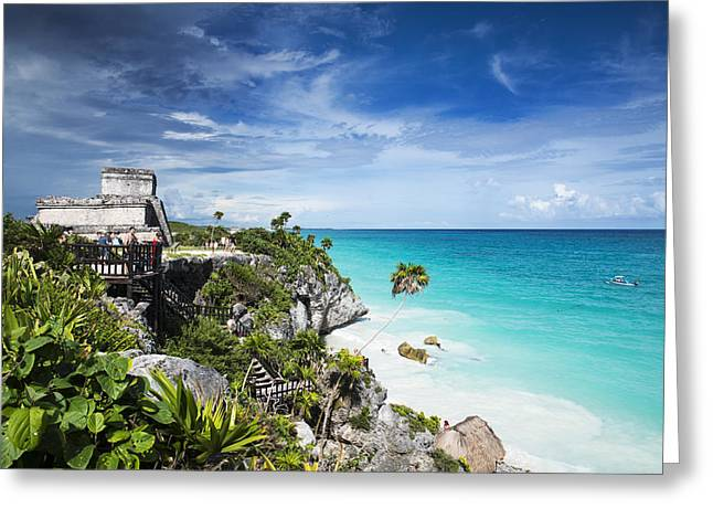 Tulum Greeting Card by Yuri Santin