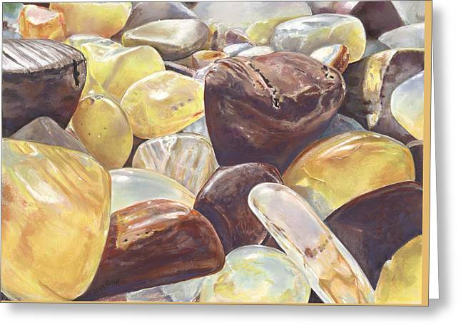 Tumbled Agates Greeting Card