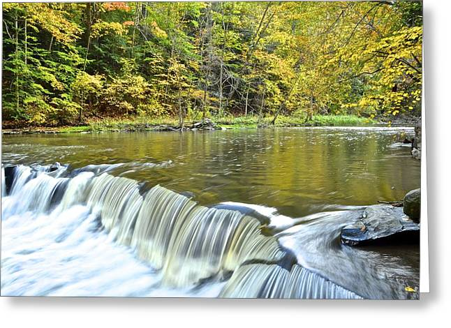 Tumbling Water Greeting Card by Starving  Artist