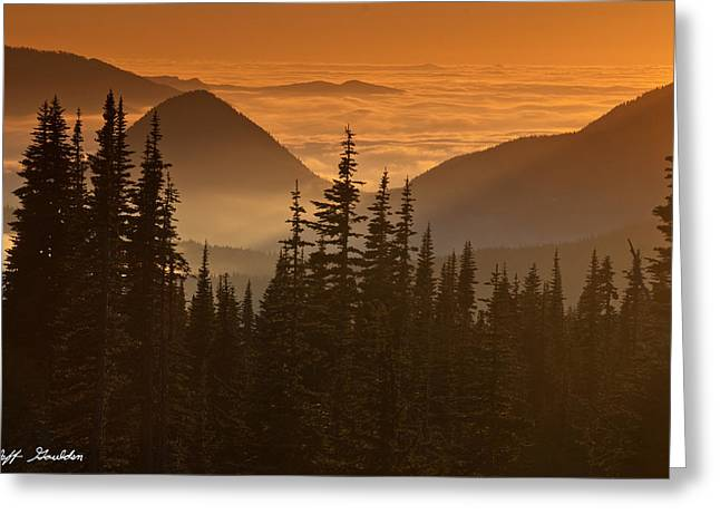 Greeting Card featuring the photograph Tumtum Peak At Sunset by Jeff Goulden
